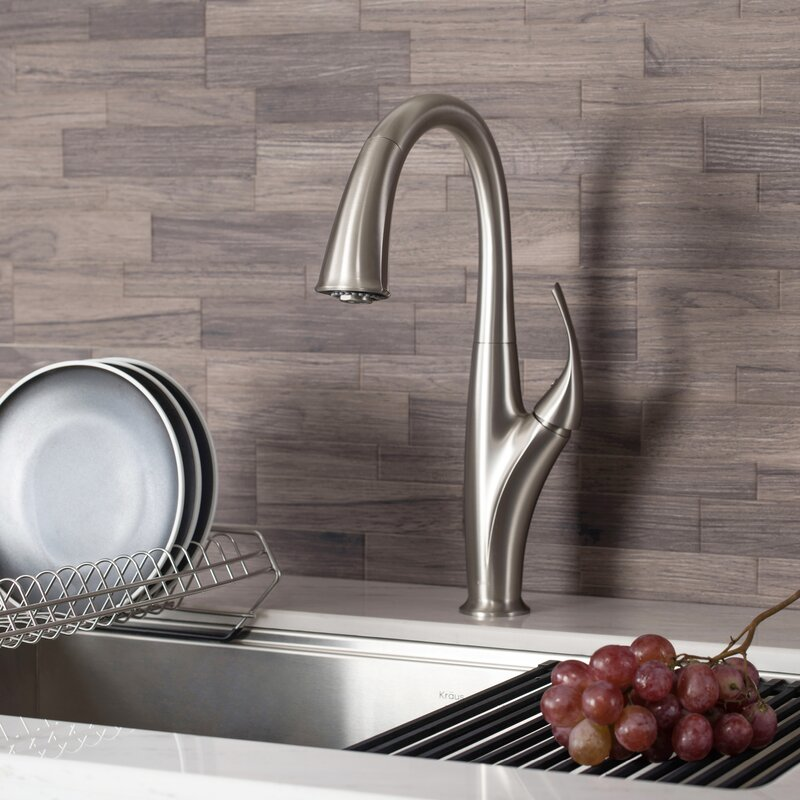 Kraus Odell Pull Down Touch Single Handle Kitchen Faucet Reviews Wayfair