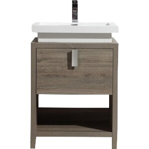 Annabelle 40 Inch Modern Bathroom Vanity Espresso Finish 24 inch bathroom vanities you'll love | wayfair