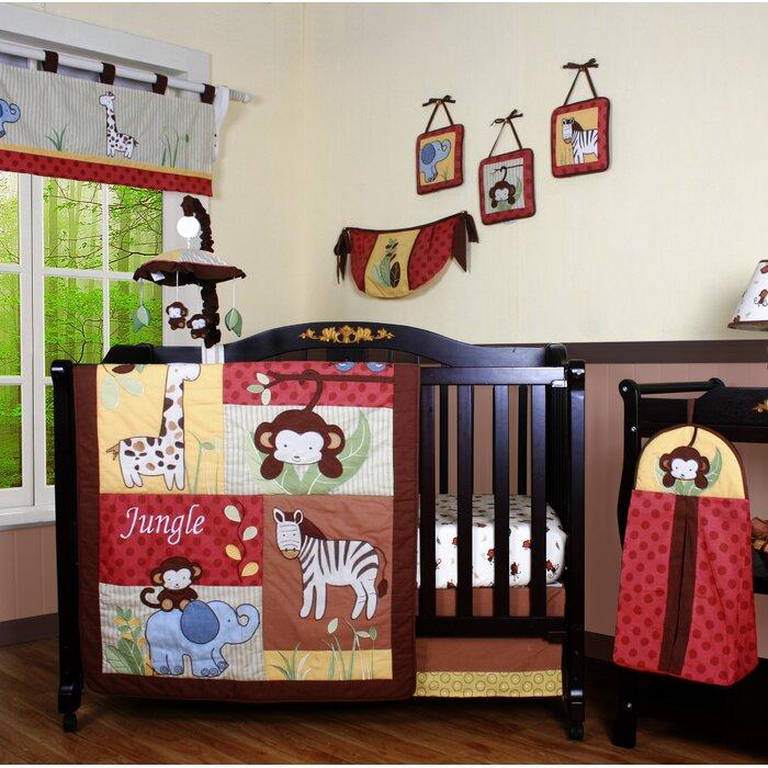 Boutique Jungle Animal 13 Piece Crib Bedding Set