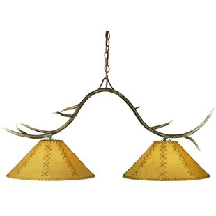 Meyda Tiffany Branches Faux Leather 2-Light Kitchen Island Pendant