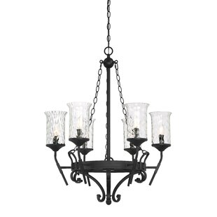 Fleur De Lis Living Shafer 6-Light Shaded Chandelier