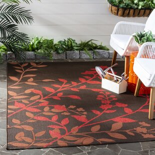 Laurel Chocolate/Red Indoor/Outdoor Rug