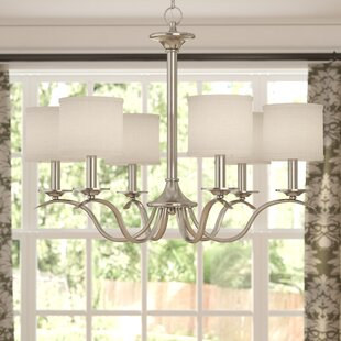 Greenwell 6-Light Shaded Chandelier by Three Posts