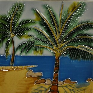 Tropical Palm Tile Wall Decor