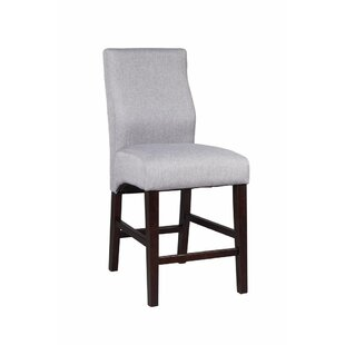 Emmert Upholstered 40.75 Counter Height Bar Stool (Set of 2) DarHome Co
