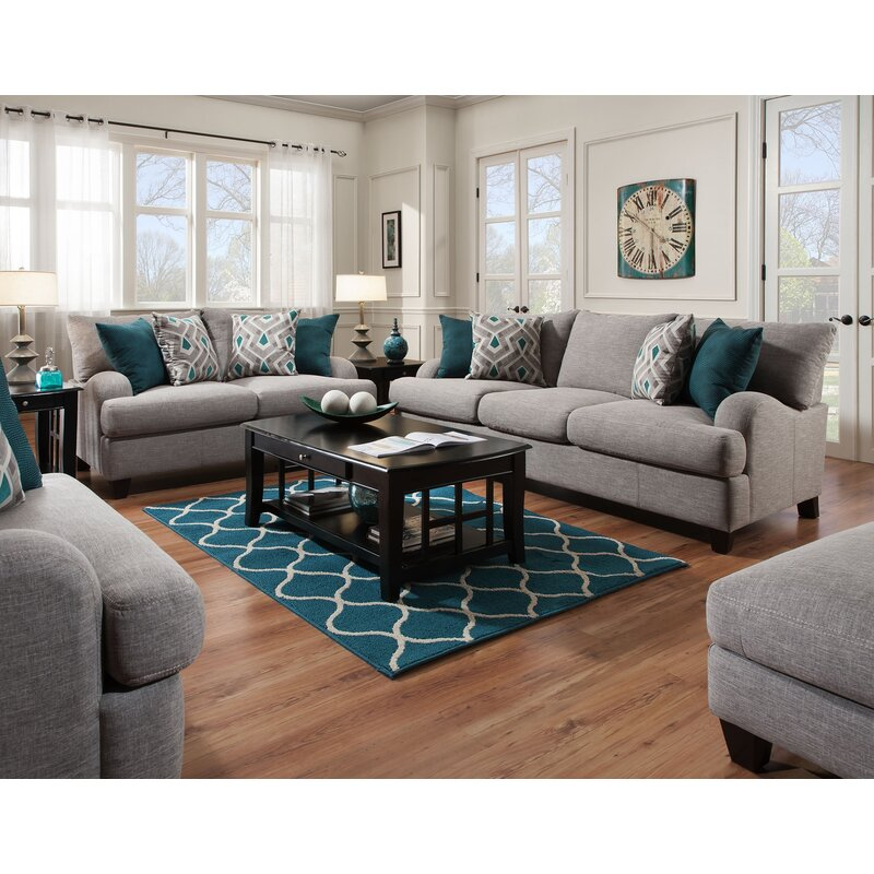 Laurel Foundry Modern Farmhouse Rosalie 4 Piece Living Room Set Reviews Wayfair Ca