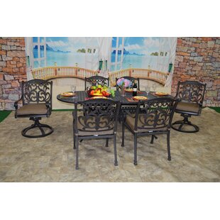 One Allium Way Pyxis 7 Piece Sunbrella Dining Set with Cushions