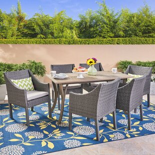 Osborne 7 Piece Dining Set with Cushions