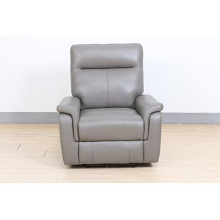 Callie Leather Electric Recliner By Ebern Designs