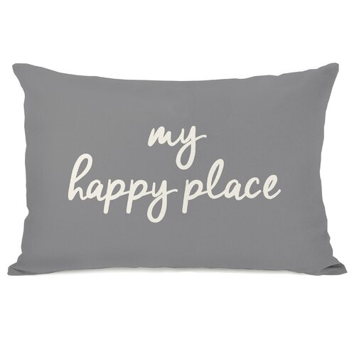 Dupras My Happy Place Outdoor Lumbar Pillow