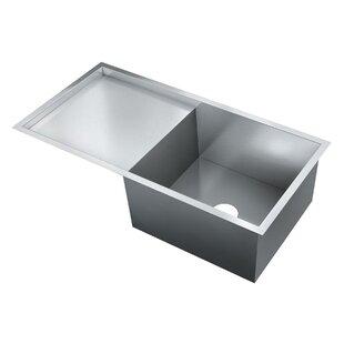 Flush Mount Kitchen Sinks Flush mount stainless sink wayfair 36 x 18 single bowl flush mount kitchen sink workwithnaturefo
