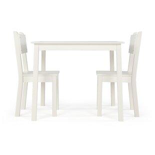 Katelin Kids 3 Piece Rectangular Table and Chair Set