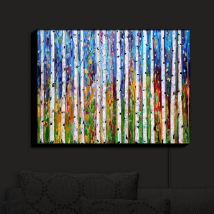 Affordable Autumn Birch Trees' Print on Fabric By Latitude Run