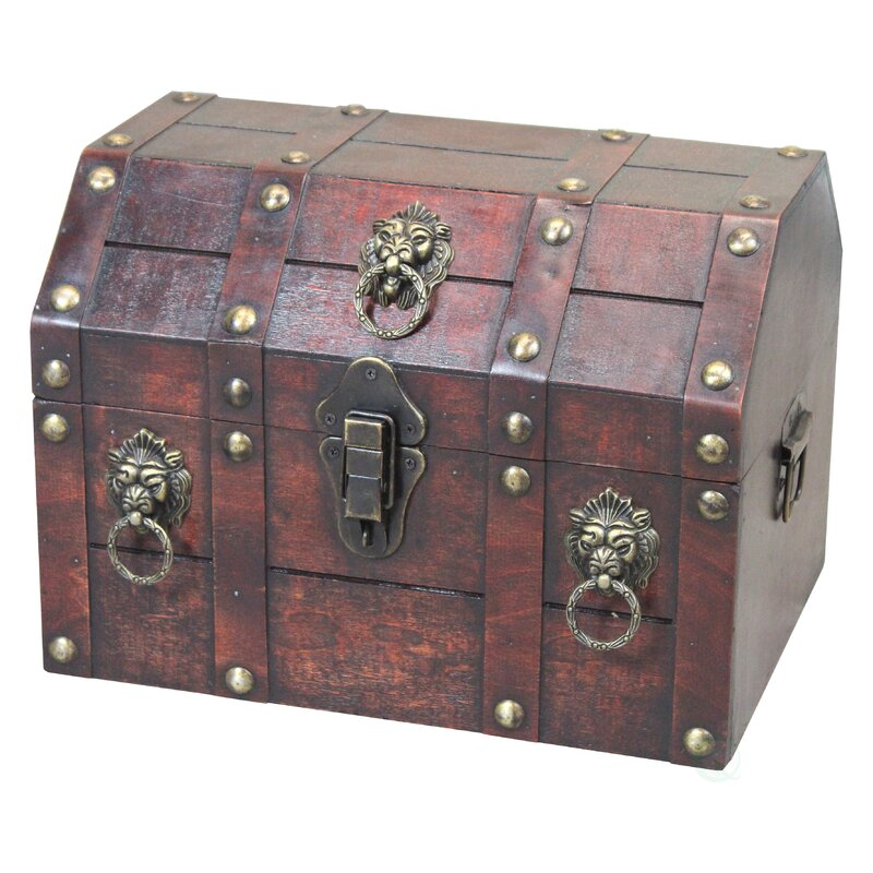 Charmant Antique Pirate Treasure Chest Decorative Box