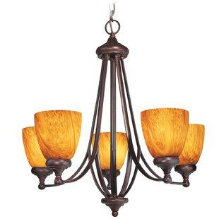Kenshaw 5-Light Shaded Chandelier by Woodbridge Lighting
