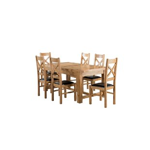Low Price Apollonia Small Extending Dining Set With 6 Chairs