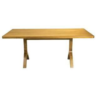 Burnished Ebling Maple Solid Wood Dining Table by Brayden Studio Bargain