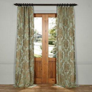 Ballsallagh Silk Jacquard Damask Rod Pocket Single Curtain Panel