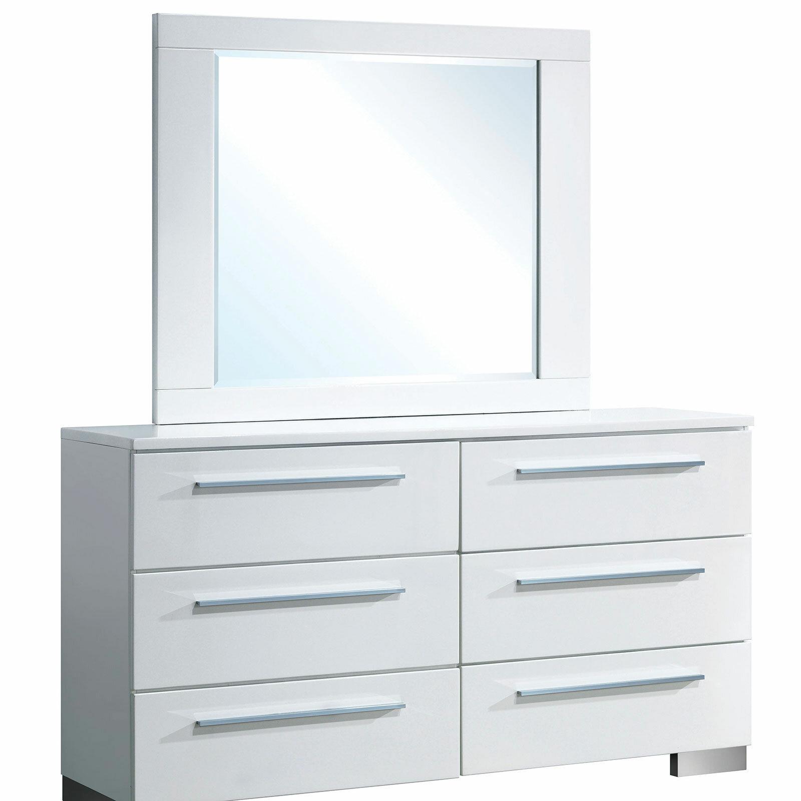Orren Ellis Fordland 6 Drawer Double Dresser Wayfair