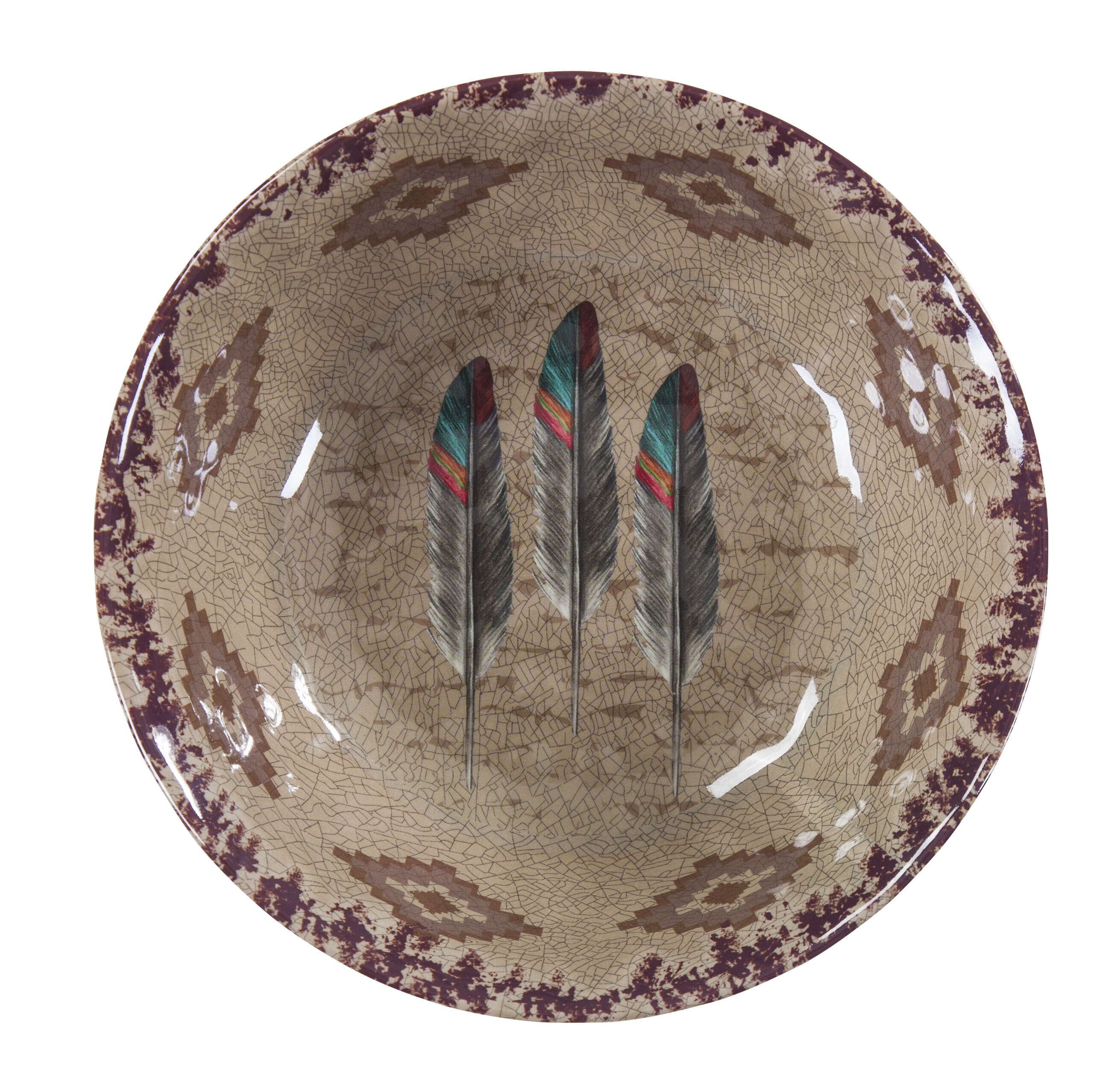 East Urban Home Feather Melamine Dining Bowl Reviews Wayfair Ca