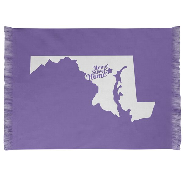 East Urban Home Home Sweet Baltimore Purple Area Rug Wayfair
