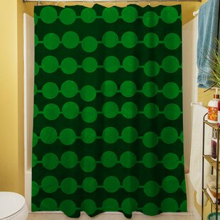 Line Dots Single Shower Curtain