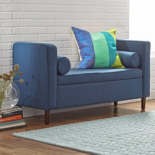 Best Reviews Telesphorus Upholstered Storage Bench By Mercury Row