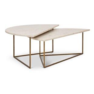 Everly Quinn Dereham 2 Piece Coffee Table..