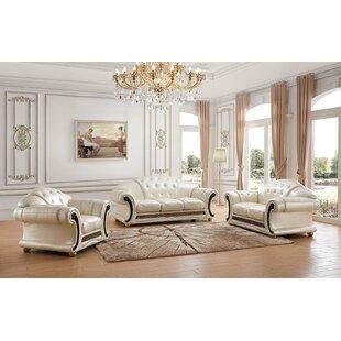 House of Hampton Fortune 3 Piece Living Room Set