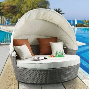 Gracie Oaks Salena Patio Daybed with Cush..