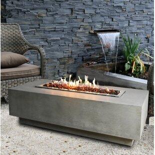 Granville Concrete Natural Gas Fire Pit Table