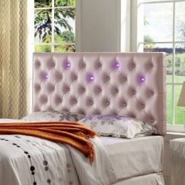 Fauler Contemporary Upholstered Panel Headboard by Enitial Lab