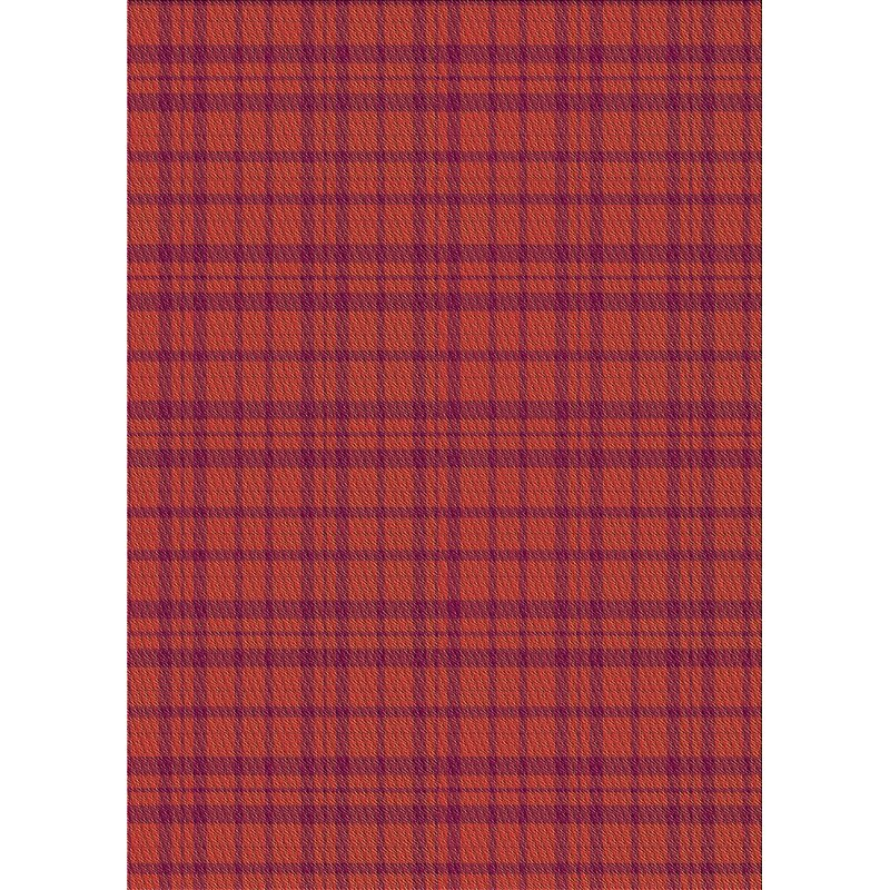 East Urban Home Plaid Wool Red Orange Area Rug Wayfair