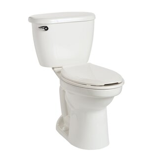 Mansfield Plumbing Products Cascade HET SmartHeight 1.28 GPF Elongated Two-Piece Toilet