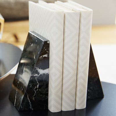 Marble Non Skid Bookends Allmodern