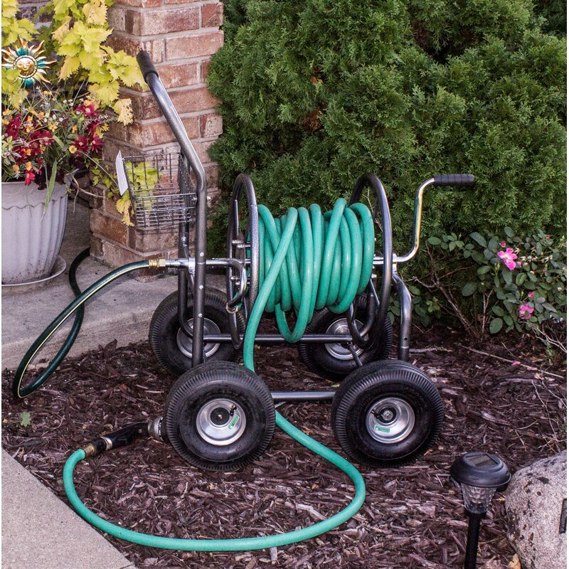 outdoor hose reel cart - Garden Hose Reel Cart