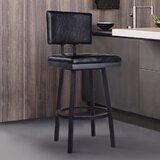 Nakagawa Bar & Counter Swivel Stool by Williston Forge