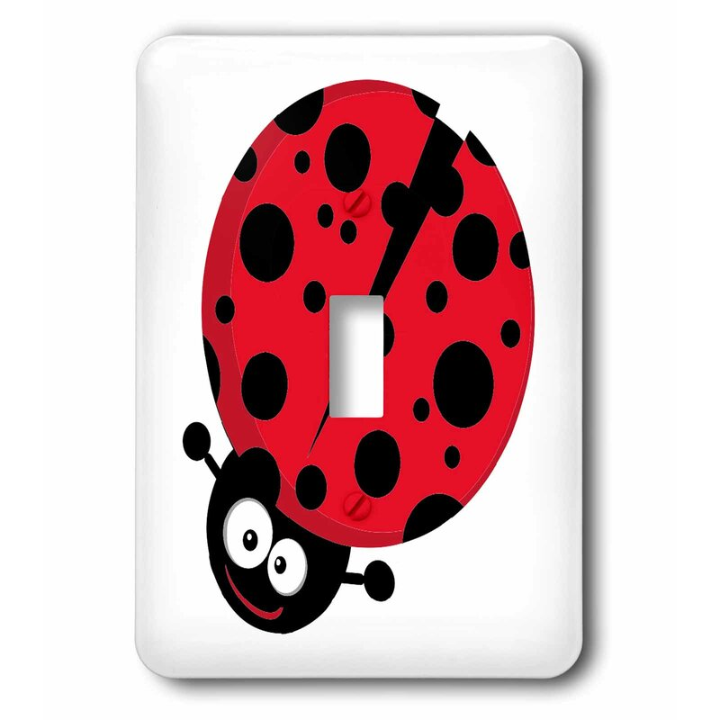 3drose Cute Little Go Of Y Ladybug 1 Gang Toggle Light Switch Wall Plate Wayfair
