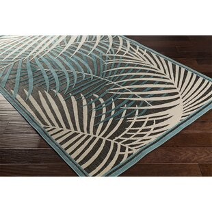 Caravel Ivory Teal/Aqua Indoor/Outdoor Area Rug
