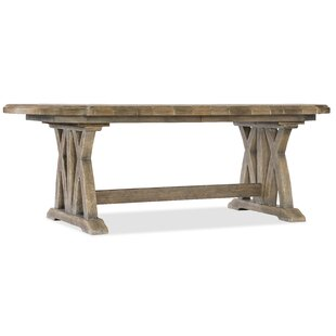 Price comparison Boheme Colibri Trestle Solid Wood Dining Table By Hooker Furniture