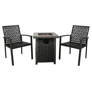 Camarena 3 Piece Rattan Conversation Set by Turn on the Brights