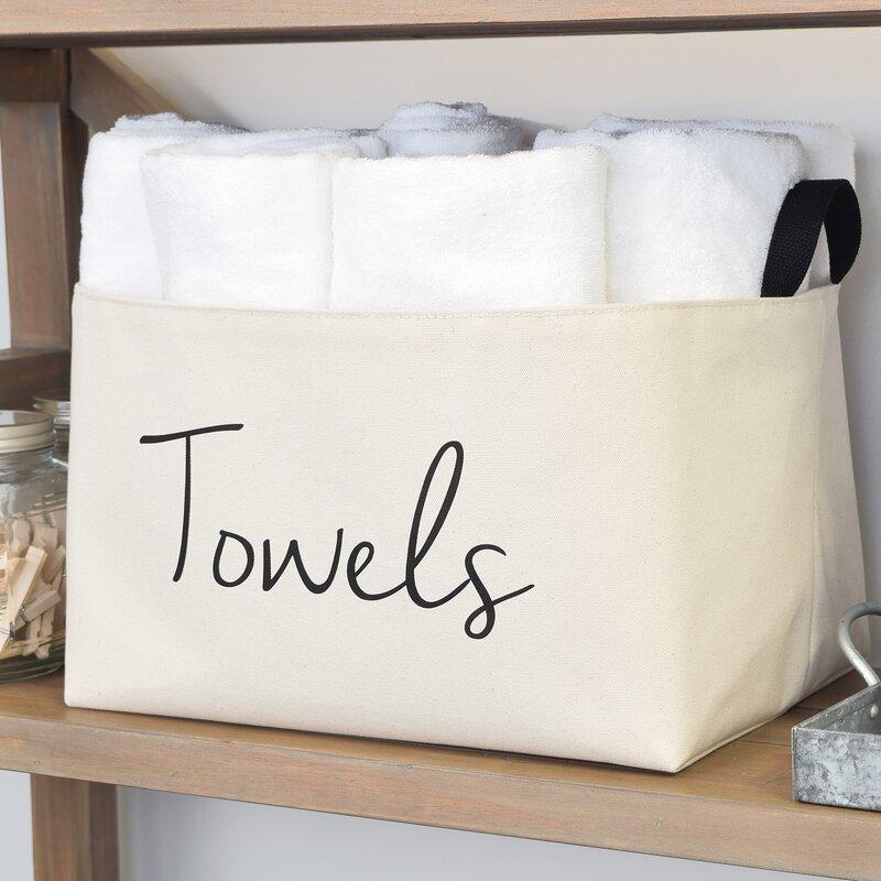 Asouthernbucket Towels Fabric Storage Basket Wayfair