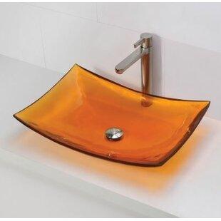 Inexpensive Darya Incandescense Plastic Rectangular Vessel Bathroom Sink By DECOLAV