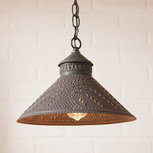 Gracie Oaks Wentworth Mansion Willow 1-Light Cone Pendant