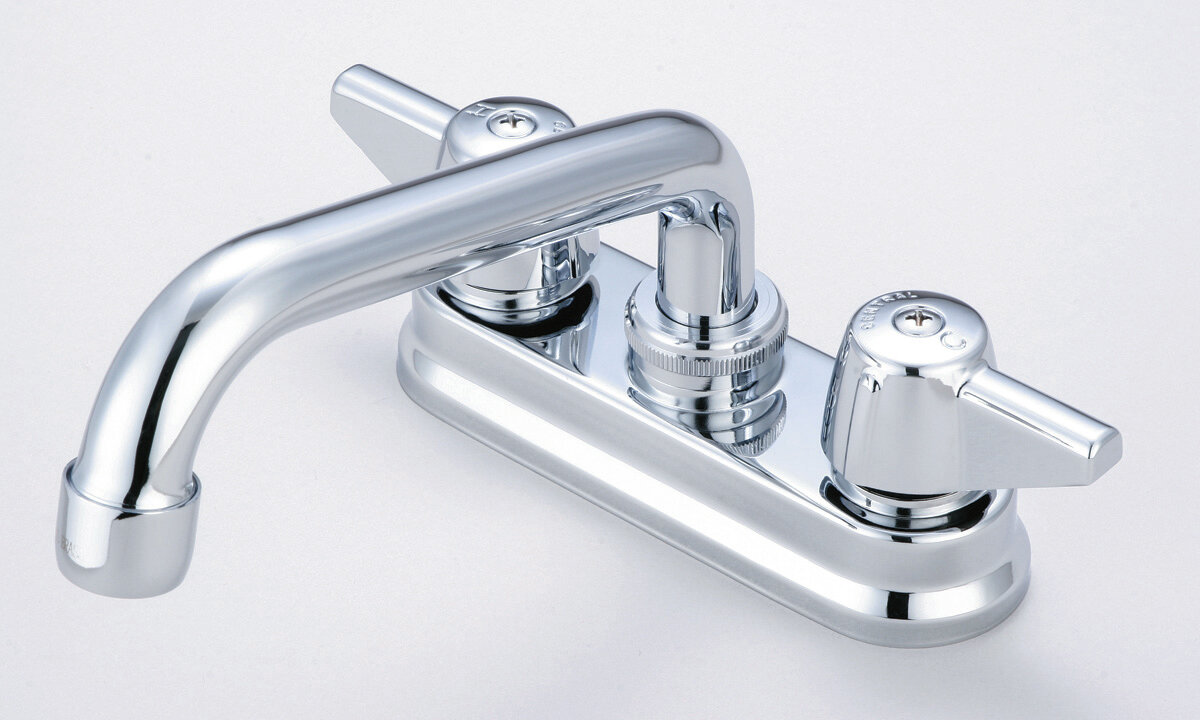 Central Brass Laundry Faucet with Swivel Spout and Double Canopy ...
