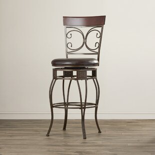 Darlington Traditional 30 Swivel Bar Stool by Fleur De Lis Living