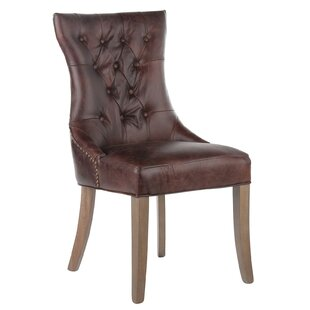 Price comparison Mustang Tufted Genuine Leather Upholstered Dining Chair by Joseph Allen Reviews (2019) & Buyer's Guide