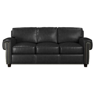 Sioux Leather Sofa Bed By Westland and Birch