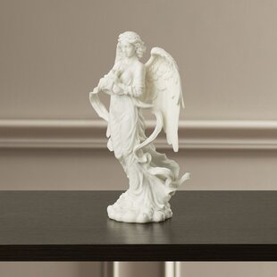 Angel Trumpeting Cathedral Figurine. By Design Toscano