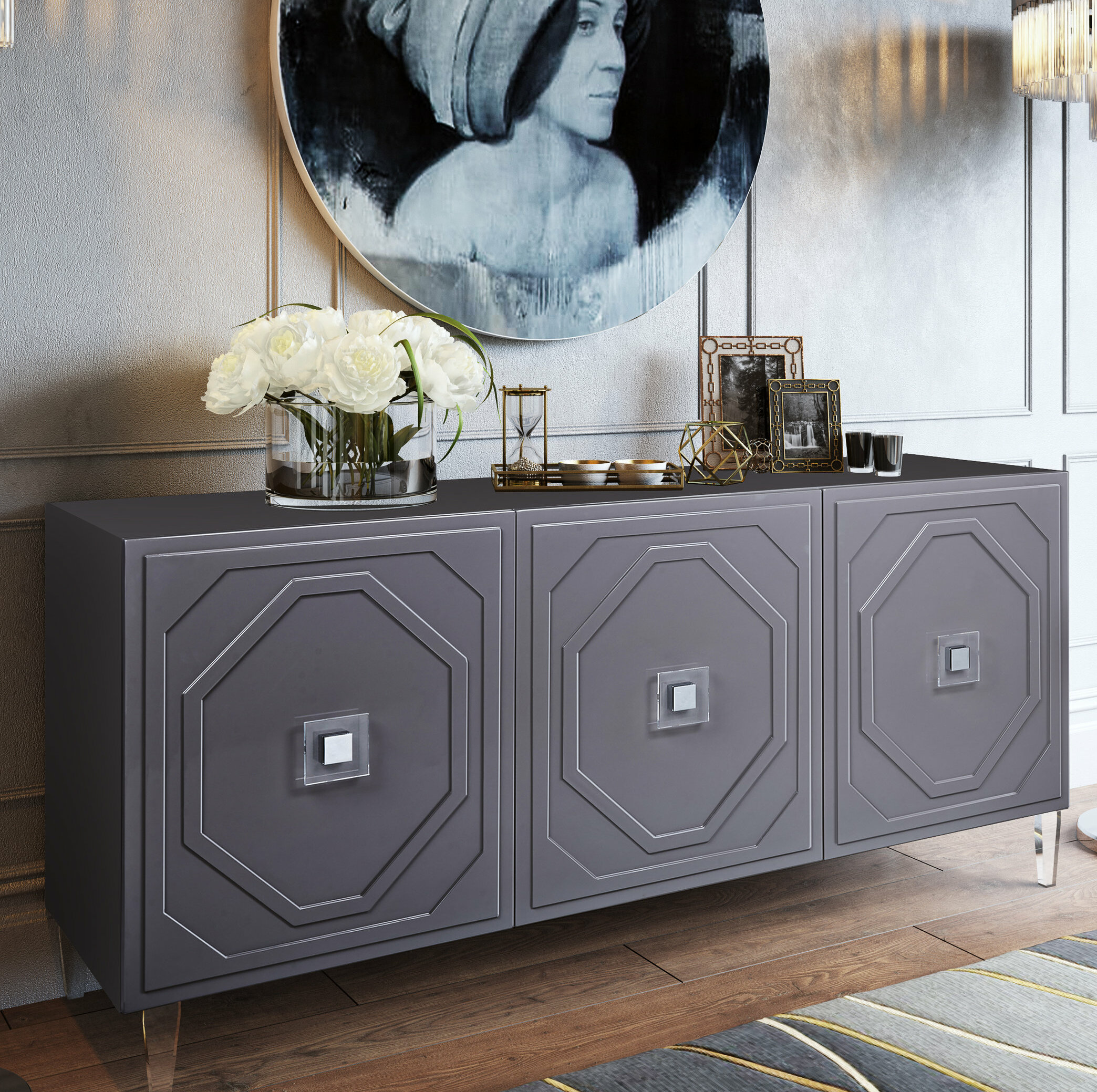 Picture of: Everly Quinn Trish 65 Wide Buffet Table Reviews Wayfair Ca